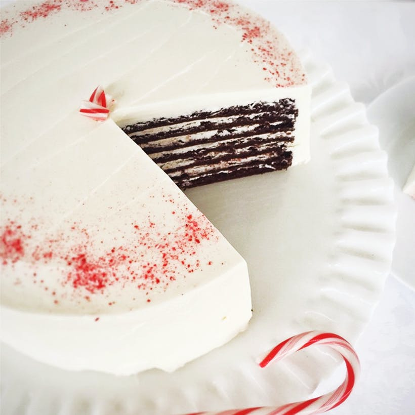 7 Layer Chocolate Peppermint Cake