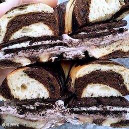 Overloaded Oreo Bagels + Cream Cheese