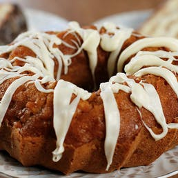 Apple Pound Cake with White Chocolate Drizzle