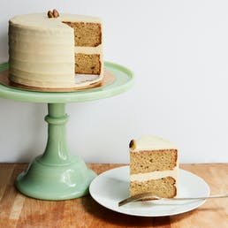 Pistachio Cake + Honey Buttercream